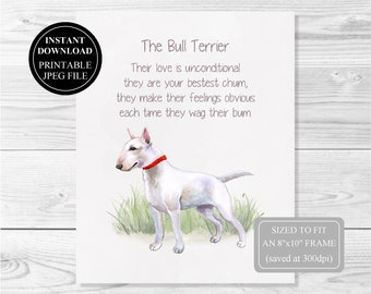 Bull terrier quotes | Etsy