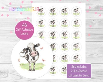 """30 BAMBI ENVELOPE SEALS LABELS STICKERS PARTY FAVORS 1.5/"""" ROUND"""