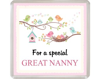 For a special GREAT-NANNY Sentimental Fridge Magnet Fun Novelty Gift