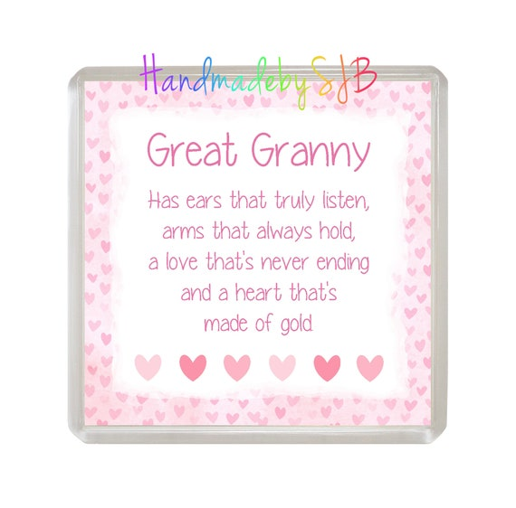 GRANNY//GREAT GRANNY Coaster /'THE ONLY THING BETTER/' Drinks Mat Fun Novelty Gift