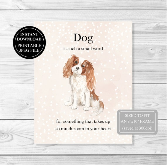 ideal Christmas stocking filler DOG BREED CRAFT STICKERS CAVALIER