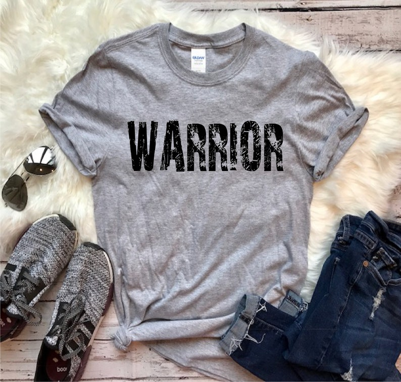 94d5a825 WARRIOR ringspun tshirt FREE SHIPPING Many colors available   Etsy