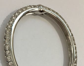 Silver and Crystal Cuff Bracelet