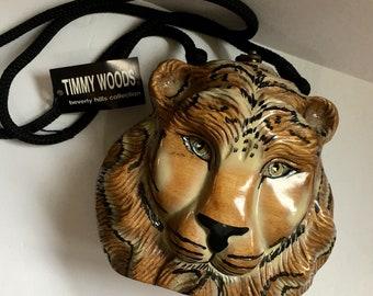 Timmy Woods Tiger sculpté sac à main
