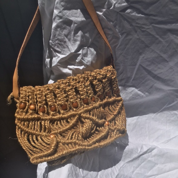 70s Macrame Bag