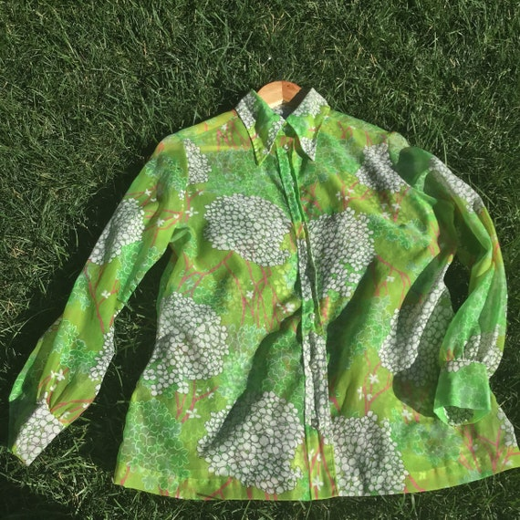 70s Floral Button Up - image 2