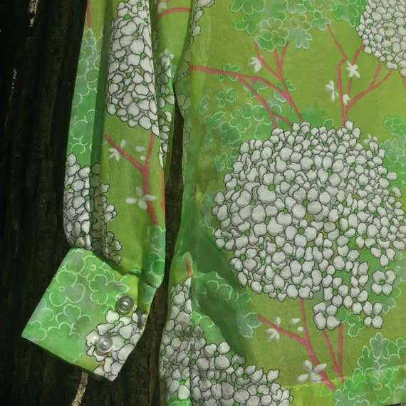 70s Floral Button Up - image 5