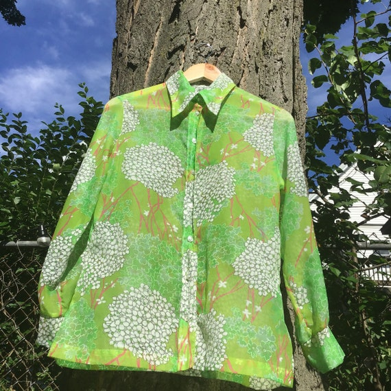 70s Floral Button Up - image 3