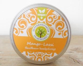 Shea Mousse, Mango Lassi, vegan, Clean Art Mango Lassi, , Shea Butter, solid body lotion, no waste, no plastic, plastic-free,