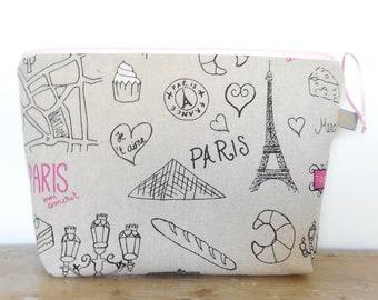 Toiletry bag / Wash Bag / Travel Bag / Toilet bag/ Toiletry Bag Paris