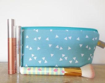 Pencil case, pencil case, make up bag, make-up bag, bag, bag, cosmetic bag turquoise, gnome gift
