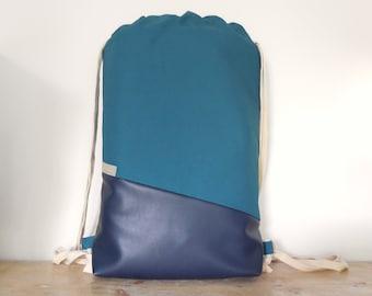 Gym bag with inner pockets, sports bag, backpack, yoga bag with inner pockets, gym bag, string bag, backpack, daypack, drawstring,
