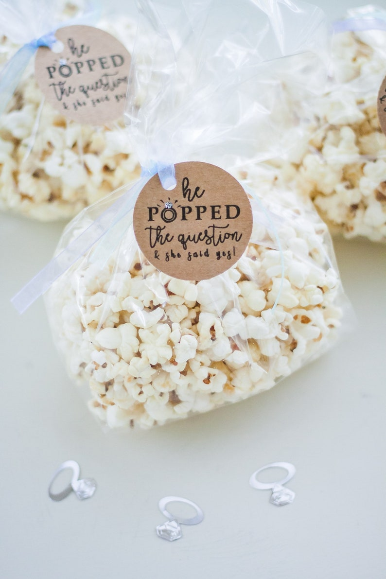 Popcorn Bag Tags  He Popped the Question image 0