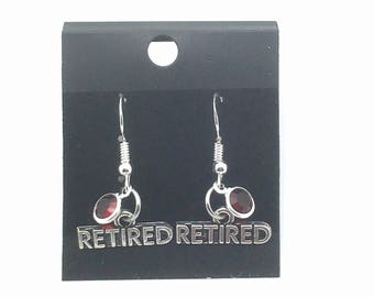 c83ab93c7 Retired Earrings, Retirement Gift for Her Birthstone Jewelry, Silver Boss  Present, Charm Women Woman Coworker Co Worker Mom Bff Aunt Sister