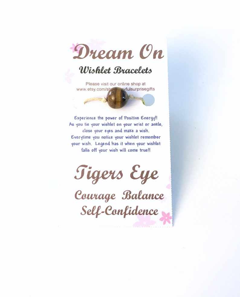 8d987508c9968 Tigers Eye Wishlet Bracelet for Boyfriend, Make a Wish Gift for Best  Friend, Courage Balance Self Confidence Self-Confidence Teen Boy Him