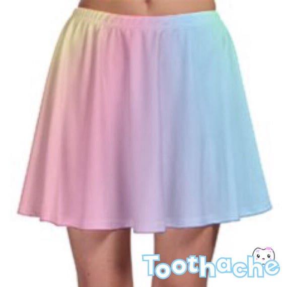 Pastel Rainbow Skater Skirt
