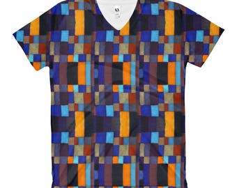 Square Gal Women's V-Neck T-Shirt