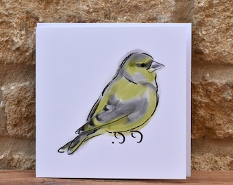 1947 Original Vintage Lithograph Birds Print Of A Chaffinch /& A Greenfinch Mounted And Matted Ready To Frame