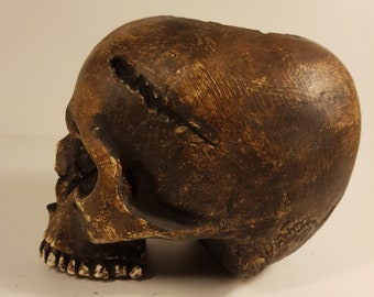 Ancient Skull Candle Holder