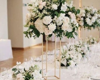 Home & Garden Artificial Flower Bouquet With Metal Flower Rack Wedding Flower Table Centerpieces Home Crafts Metal Stand With Flowers Ball Moderate Price