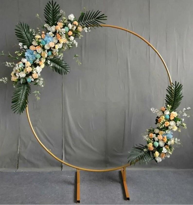 Golden Circle Metallständer Für Hochzeit Hochzeit Tisch Dekor Stand Für Blumenarrangement Metall Hochzeit Floral Dekor Luxus Hochzeiten