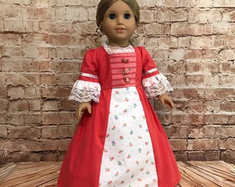 "Colonial School Dress Repro for American Girl 18/"" Doll Clothes Felicity"