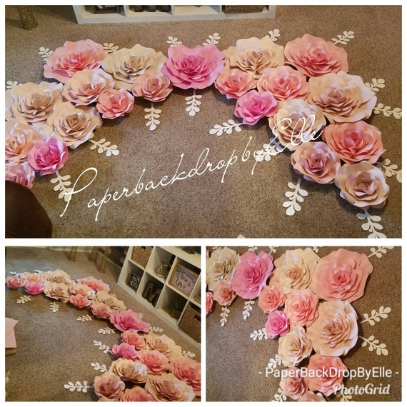 Paper Flower Backdrop By Ellet Of 8 Flowers Special Sale Etsy