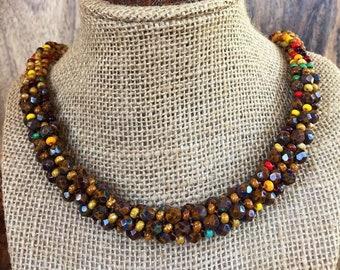Indian Corn Kumihimo Necklace 3