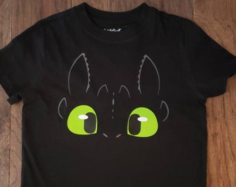 49b5946cf Black Toothless Inspired How to Train Your Dragon Shirt