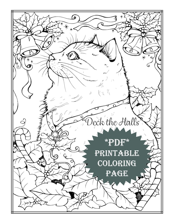 It is an image of Printable Coloring Pages Cats in 3 cat