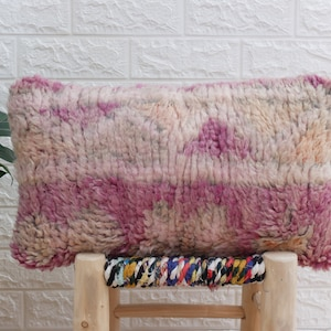19.5/'/'13.5/'/' Vintage Moroccan Berber Pillow colourful-cushion berber Handmade-Natural Wool-Moroccan Cover Made from old rugs-Free shipping