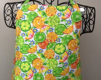 TUTTI FRUITY Orange & Lime Slices  Apron  Full