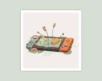 Frog Game Console (Square) Print