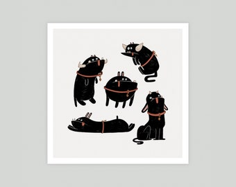 Lil' Beasts (Square) Print
