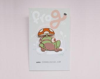 Frog Enamel Pin (Rose Gold)