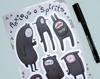 Anxious Spirits Sticker Sheet (A5)