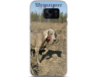 Weimaraner Pointing Samsung Case for Cell Phone