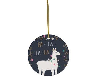 Llama Tree Ornament, Llama decoration, Fa La Lama Christmas Decoration, Llama Gift