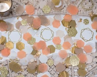 Fall Baby Shower, Baby Shower Decorations Girl,  Boho Party Decor, Boho Baby Shower, Confetti, 30th Birthday Decorations, Peach