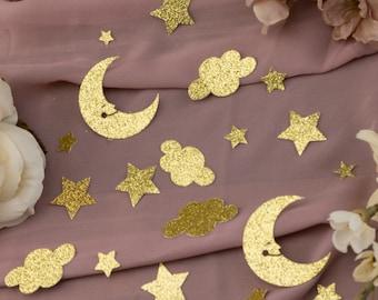 Twinkle Twinkle Little Star Baby Shower, Moon and Star Baby Shower, Star Confetti, Twinkle Twinkle Little Star First Birthday