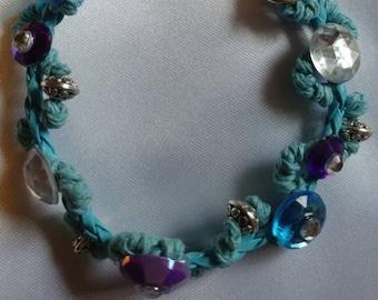 Beaded Bracelet - Charm Bracelet - Gem Bracelet - Feather Bracelet - Handmade Bracelet