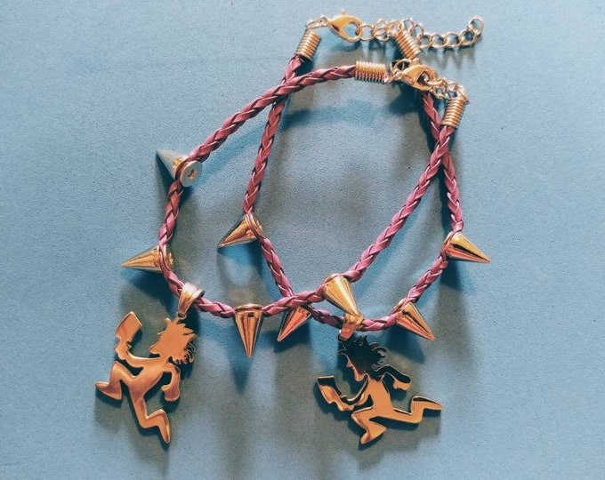 Charm Bracelet-Hatchetman Bracelet-Spike Bracelet-Bracelet-Hatchetman Charm-ICP Bracelet-ICP Jewelry