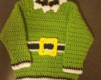 Handmade Crochet Christmas Jumper