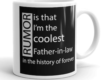 Gift For Father In Law Dad Coffee Mug With Sayings Gifts Under 20 Birthday Fathers Day