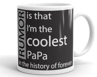 Gift For PaPa Mugs With Sayings Gifts Dad Father In Law Grandpa Under 20 Birthday Fathers Day