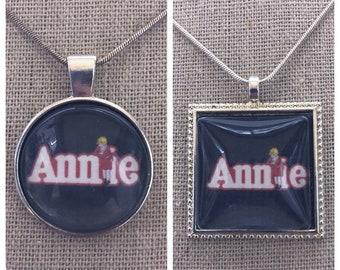 Annie Broadway Musical pendant necklace-Annie necklace-Annie keychain-Annie jewelry-Broadway Musical Annie necklace-Broadway Musical jewelry