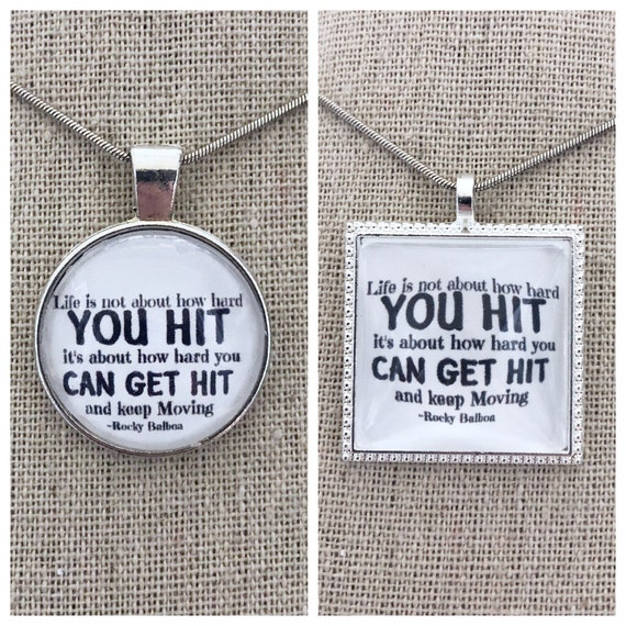 Life Is Not About How Hard You Hit Its About How Hard You Can Etsy