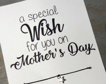 A special wish for you on Mother's Day -Mother's Day wish bracelet -Mother's Day gift