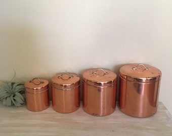 Quick View. Copper Canister Set, Vintage ...