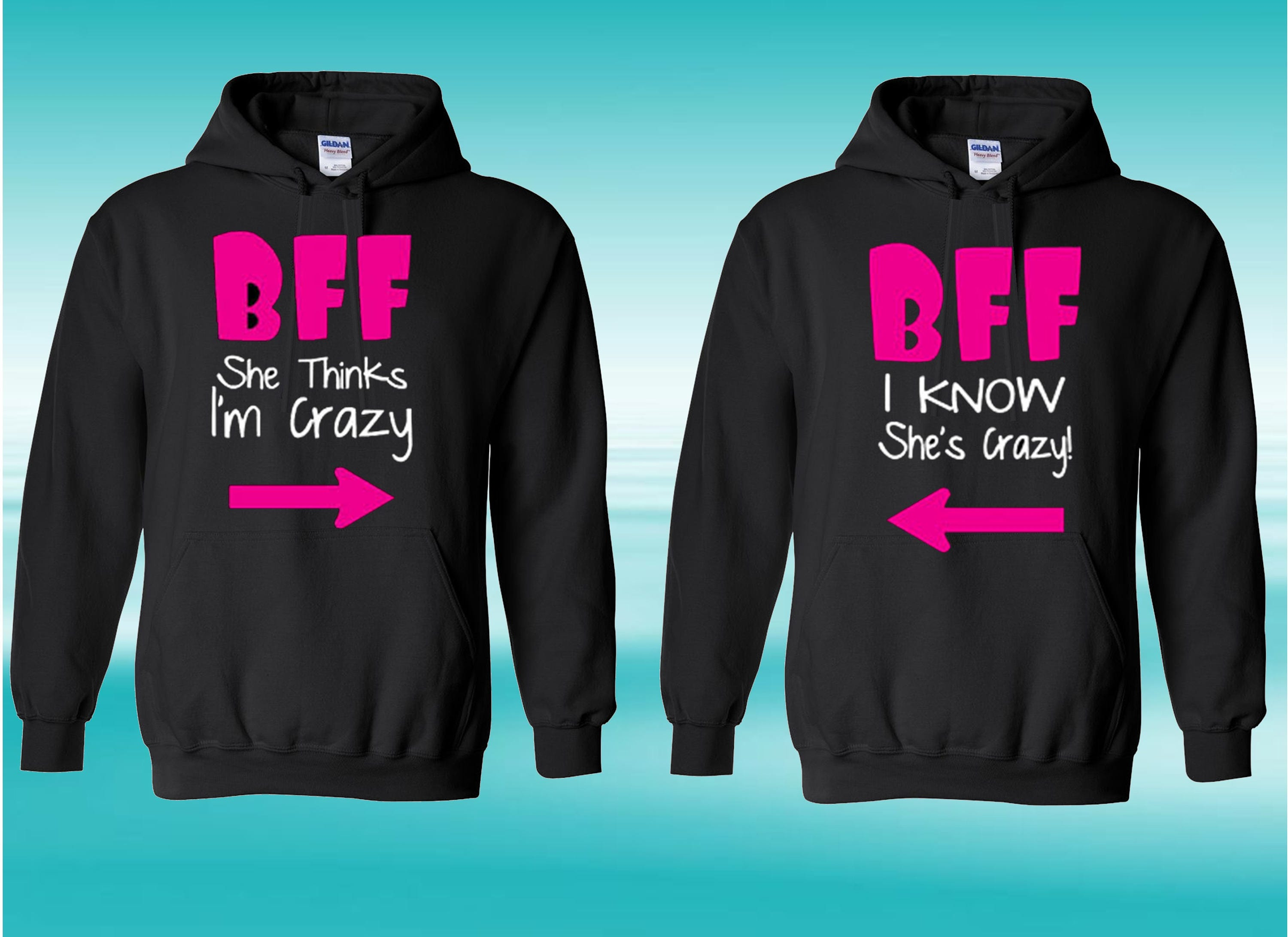 Best Friends Hoodies - FAST DISPATCH - Made with love - bff matching outfit drama queen princess hoodies gift for bff best friends outfit 7BpSwT1h4